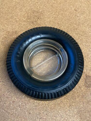 Vintage Firestone Tire & Rubber Co. Tire Ashtray Glass Original