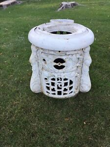 Antique Cast Iron Ornate Stove Belly