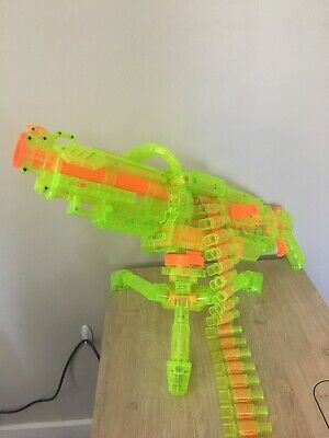 Rare Nerf Vulcan ebf-25 with stand and ammo belt