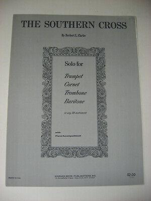 Herbert Clarke The Southern Cross Sheet Music Solo Trumpet Cornet Trombone Piano Trumpet Piano Music