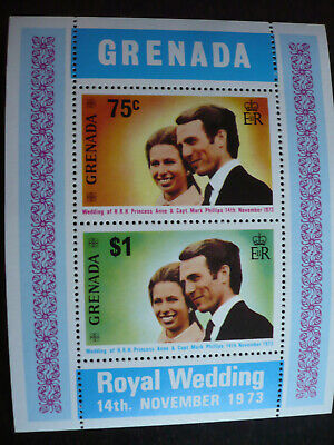 Stamps - Grenada - Scott# 517a - Souvenir Sheet of 2 Stamps