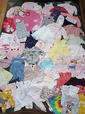 Huge Bundle Of Baby Girl Clothes 0-3-6months #143 GEORGE NEXT PRIMARK GAP DISNEY