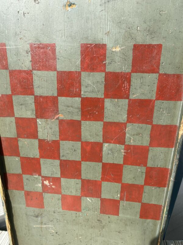 Antique Primitive Gameboard Checkerboard Aafa