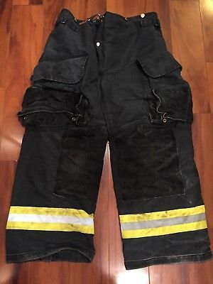 Firefighter Janesville Lion Apparel Turnout Bunker Pants 36x28 Black Costume