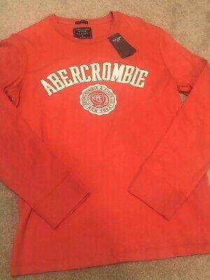 NWT abercrombie Long Sleeve Logo T Shirt Womens Size XS
