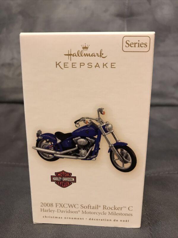 2009 2008 FXCWC Softail Rocker C Hallmark Ornament Harley Davidson #11