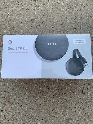 Google GA00545-US Smart TV Kit: Google Home Mini and Chromecast NEW