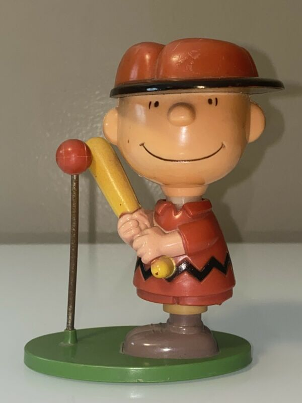 Vintage 1950 Peanuts Charlie Brown Tee-ball Figurine