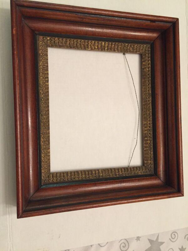 Vintage Antique Walnut Shadow Box Frame  17 X 15 X 3