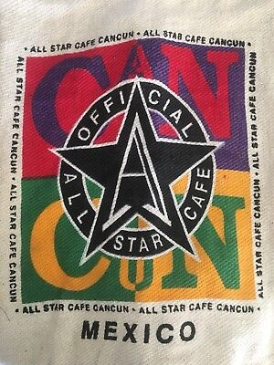- ALL STAR CAFE CANCUN Drawstring Baja Bag Hippie Yoga Duffle Backpack Boho