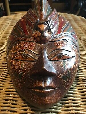 Indonesian Wooden Mask Hand Made.
