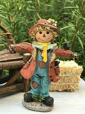 Miniature Dollhouse FAIRY GARDEN ~ Mini Fall THANKSGIVING Halloween Scarecrow