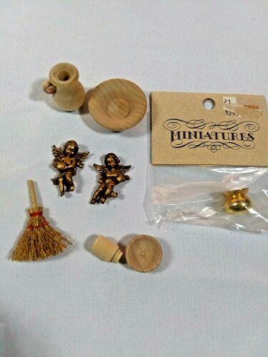 Mix Lot Bowl & Pitcher Brass Spittoon Cherubs & Other Mic. Pieces