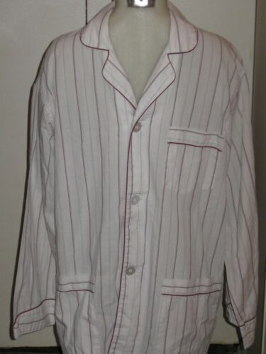 CHRISTIAN DIOR VINTAGE STRIPED MENS COTTON PAJAMAS    Sz L