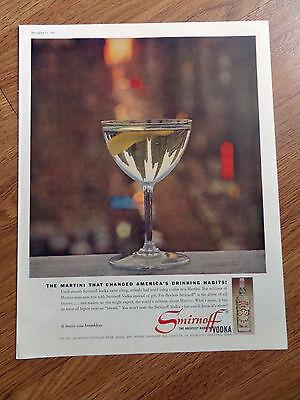 1960 Smirnoff Vodka Ad Martini That Changed America