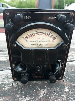 Vintage General Electric A.c Load Visualizer Multi Meter