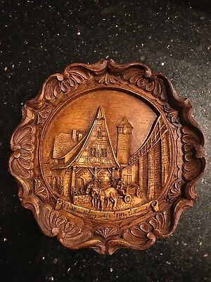 Rothenburg a.d. t. Alte Schmide resin wood hanging carved plate