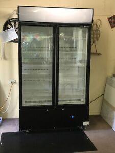 Bromic 2 door upright fridge.