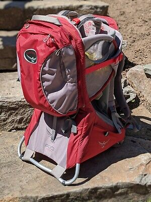 Osprey Poco Premium Baby/Child Carrier Backpack Red Excellent