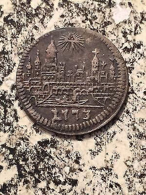 1773 BN GERMAN STATES FRANKFURT AM MAIN 1 KREUZER LOT3438 SILVER CITY VIEW