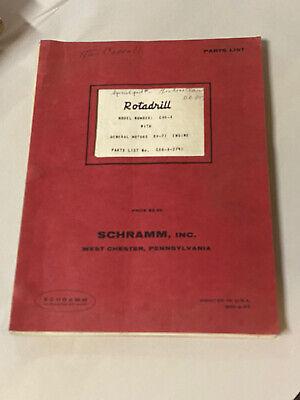 Vintage Schramm Rotadrill Well Drill Rig Parts List C66-a Detroit Diesel 8v-71