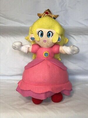 Mario Party 5 Princess Peach Plush Toy 2009 Nintendo Super Mario Bros. Hudson
