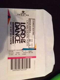 Lord of the dance/ Michael flatley ticket  Noranda Bayswater Area Preview
