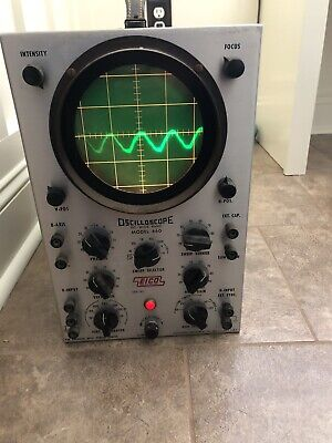 Eico Oscilloscope Model 460 Dc Wide Band For Electronic Testing Unit Works