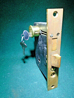 "VERY NICE 5 3//8/"" FACEPLATE NORWALK # 9420 MORTISE LOCK w//KEY 13221"
