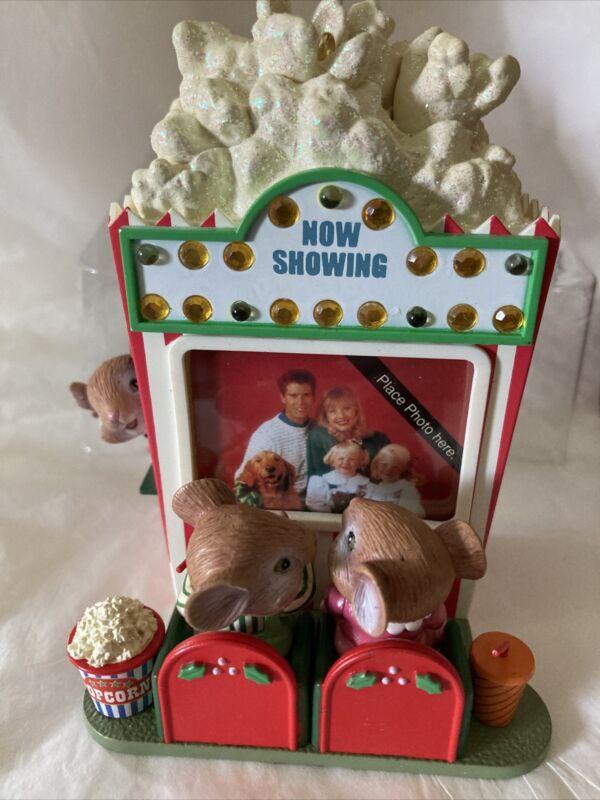"Carlton Cards 1998 Christmas Ornament ""Main Attraction"" Theater Popcorn Mice"