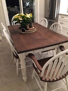 Dining table and set of 6  chairs