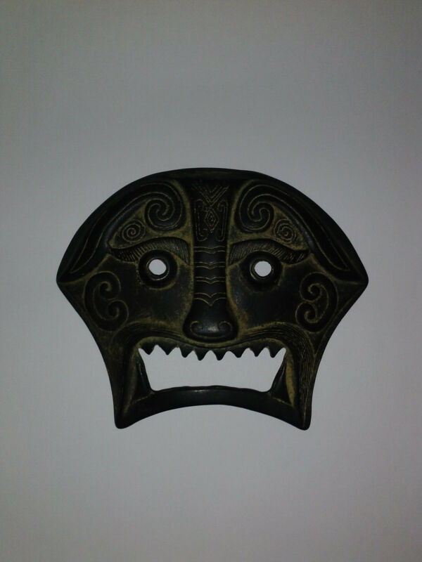 Authentic Antique Chinese Bronze Mask/Plaque. Nice Patina. ALL offers considered