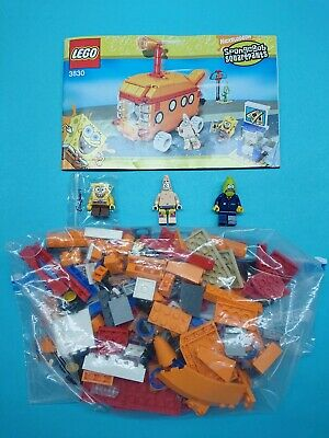 Lego SpongeBob SquarePants Set 3830 Bikini Bottom Express Complete Diff Wheels