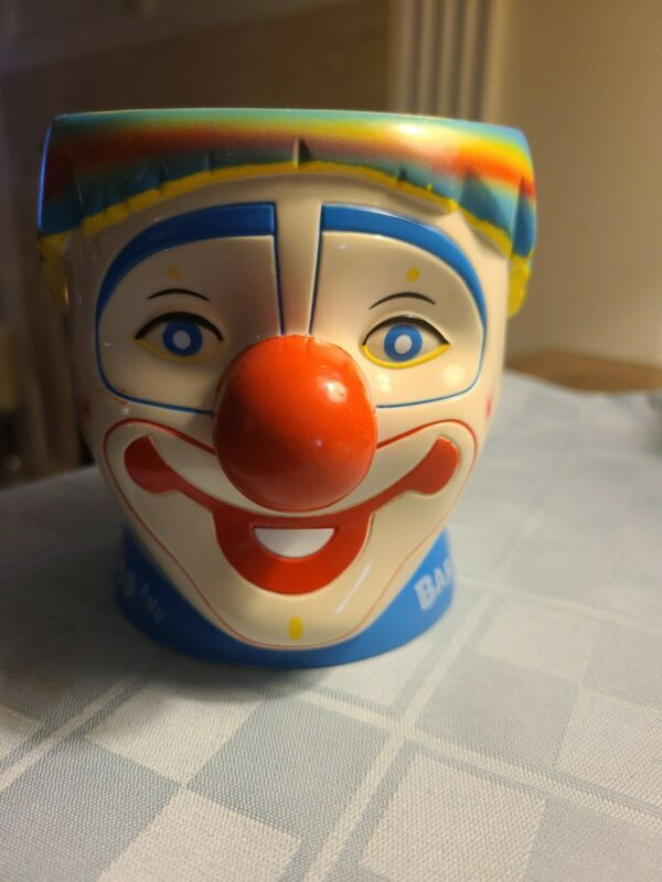 Ringling Brothers BARNUM & BAILEY Circus Happy Clown Mug Cup Rainbow Hair