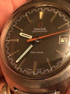 Vintage Omega Chronostop Geneve Date Single Pusher Chronograph Cal 920 146.009