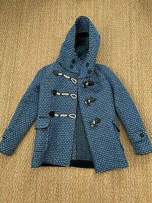 Route Des Garden Blue Wool Sweater Jacket Size 42