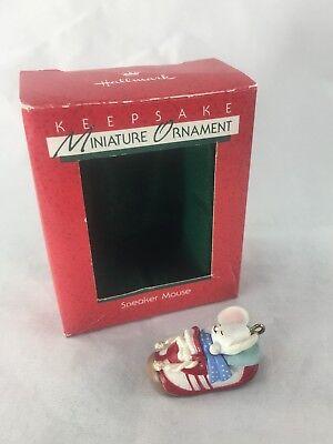 """Hallmark Miniature ORNAMENT """"SNEAKER MOUSE"""" 1988 W/BOX&TAG"""