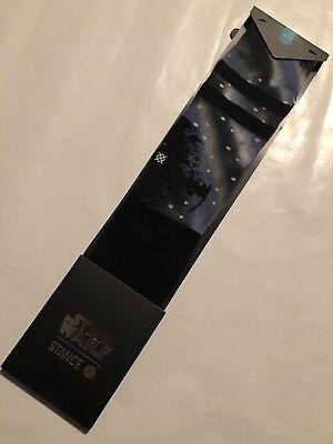 Stance 545 Series Star Wars Deathstar Crew Socks Black LARGE (9-12) NEW!