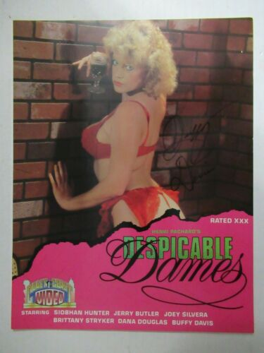 Buffy Davis Signed Autographed 8.5x11 Despicable Dames Movie Ad