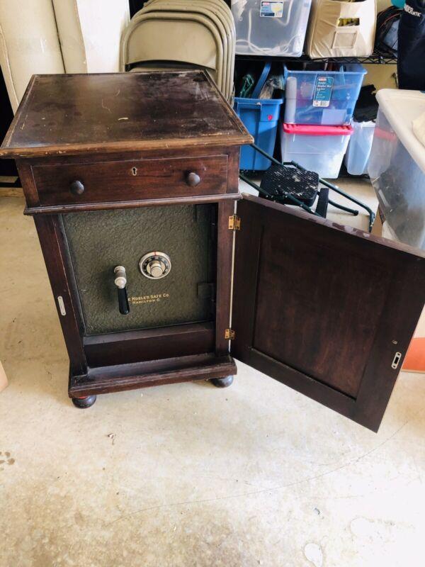 Antique Cabinet With Mosler Safe