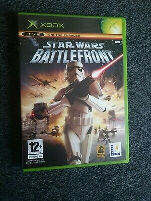 Star wars battlefront , original Xbox,fully  tested (pal) complete vgc