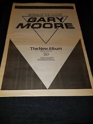 Gary Moore Victims Of The Future Rare Original UK Promo Poster Ad Framed!