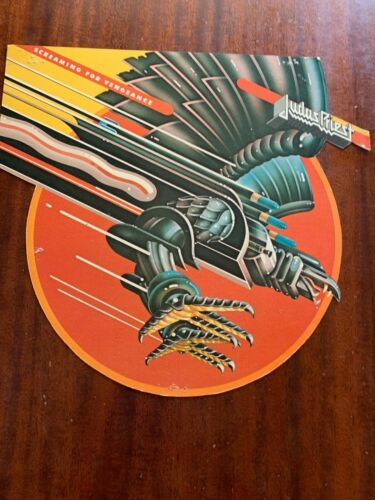 JUDAS PRIEST SCREAMING FOR VENGEANCE RECORD STORE CARDBOARD PROMO POSTER 1982