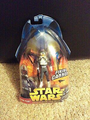 Star Wars Revenge Of The Sith Clone Pilot #34 Action Figure Hasbro Grey trooper
