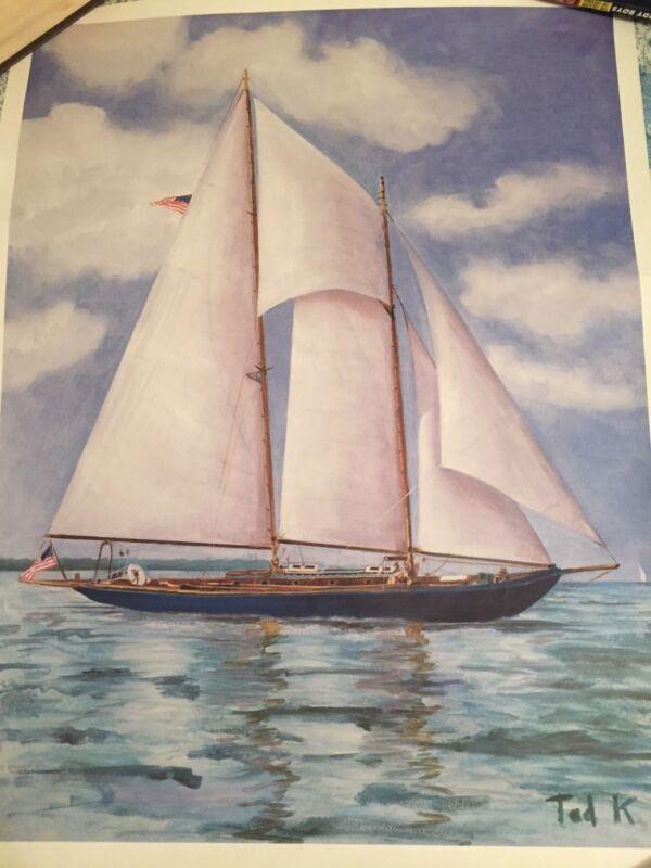 Senator Ted Kennedy Mya sailboat print