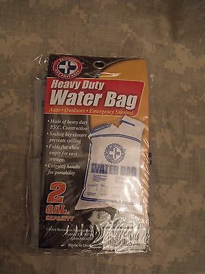 2 Gallon Water Bag - Heavy Duty (Folds flat or rolls small) Handle/Closure Tool