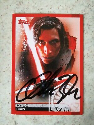 Adam Driver Autographed Topps Card KYLO REN Star Wars Last Jedi