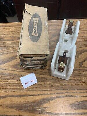 Vintage Leviton 8902 Fuse Holder 61-100 Amp 250 Volt Ceramicporcelain