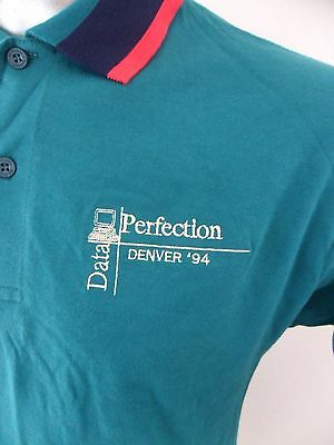 Data Perfection Denver Tech Large Dunbrooke Polo Shirt Computers Vintage 1994