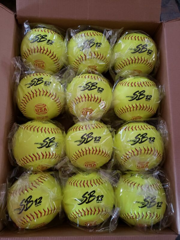 "BRAND NEW Dudley SB12L 12"" Leather Fastpitch Softballs 12 Balls."